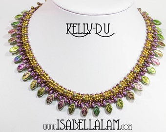 KELLY DU SuperDuo Beadwork Necklace Pdf tutorial instructions for personal use only