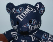 Titans Teddy Bear Tennessee Football NFL Tailgate Party Mascot Gridiron Man Cave Good Luck
