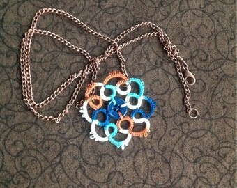 Button Needle Tatted Pendant