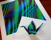 Digital Abstract Art, Printable Origami Paper, Digital Download, Abstract Art, Print Your Own Square, DIY Artprint, Geek Science Art,