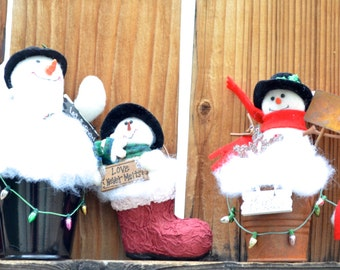 Christmas Ornaments - Snowmen Ornaments - Christmas ornaments for your tree
