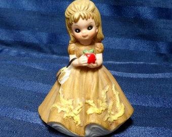 SALE 1974 George Good September Girl Figurine/ Teacher Apple Vintage Josef Originals