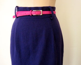 50% off Shop SALE - Pencil Skirt / High Waist Skirt / Grape Pencil Skirt
