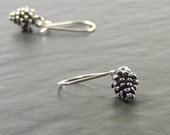 Petite Pinecone Earrings, Dainty Sterling Silver Dangle Earrings, British Woodland Jewellery, SRAJD Handmade in the UK