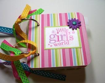 Girls Mini Album Chipboard Scrapbook, Girls album, Girls scrapbook, A little girls world, Girls photo Album, Girls Brag Book
