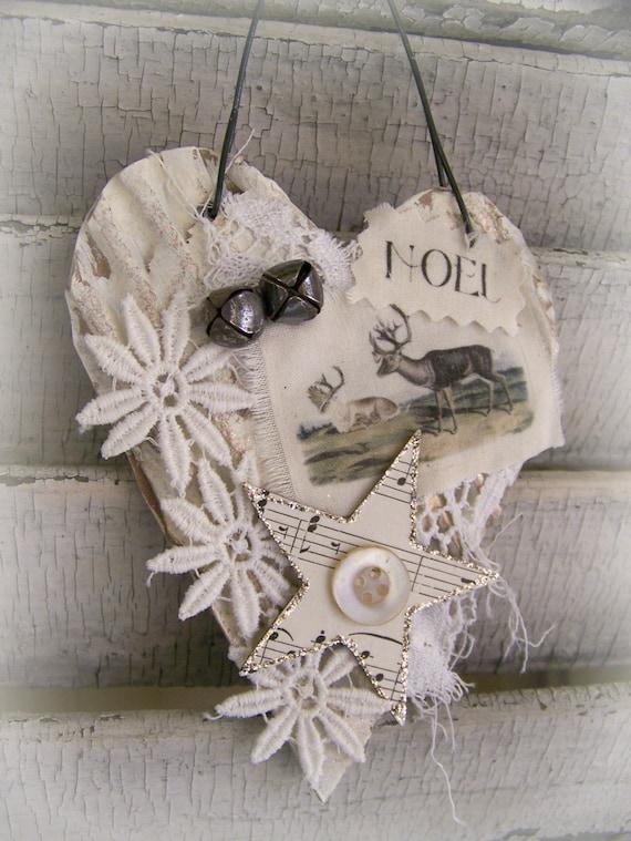 Handmade Christmas Ornament Vintage Reindeer Ornament Vintage