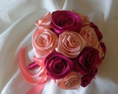 Wedding Handmade bouquet in satin ribbon