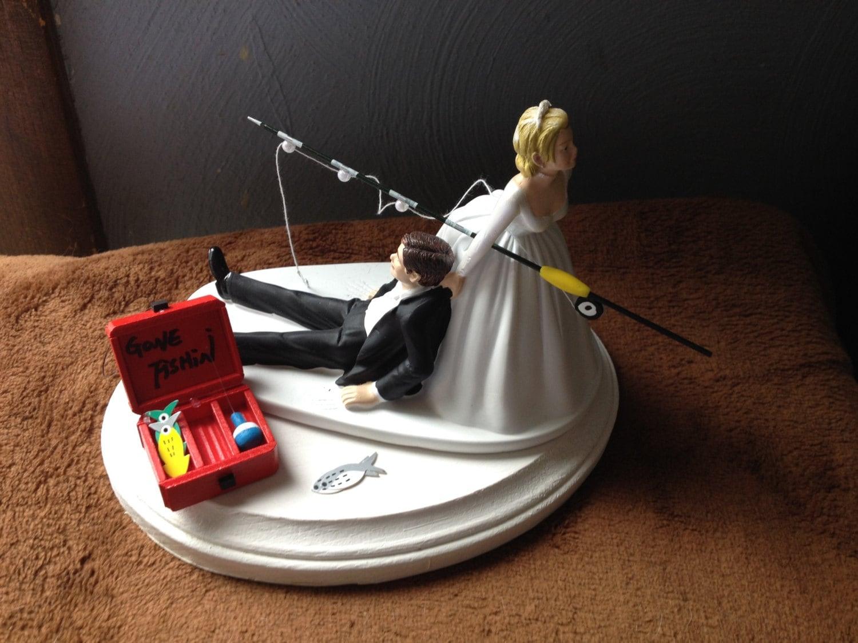 Funny Fishing Wedding Cake Toppers Fish Fishing Wedding Cake