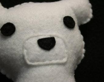 Felt Polar Bear Plush