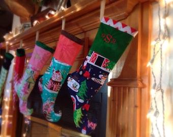 stockings, christmas stockings, custom stockings