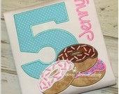 Donuts Birthday Shirt - Donut Shirt - Girls Birthday Shirt - Donut Birthday - Donut Party - Personalized Birthday Shirt
