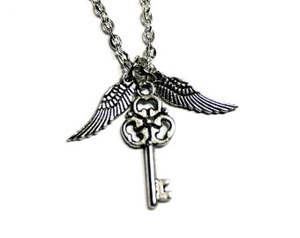 Silver Flying Key Necklace (3 styles)