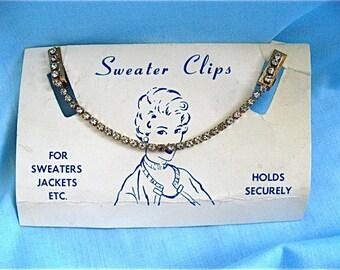 ON SALE WAS 20.99 Vintage Diamond Crystal Sweater Clips