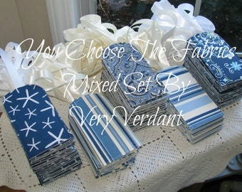 Mixed Set of 10 - You Choose The Fabrics - Blue Red Green