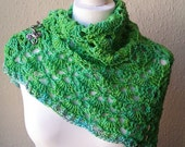 Meadow Hand Dyed Merino Wool Luxury Shawl Wrap Teen Adult Size by keiara SRA
