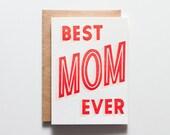Best Mom Ever - Letterpress Holiday Card - CHB166