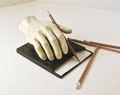 Plastic Hand Note Holder - Desk Accessory - Paper Pad Holder