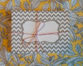 25 A7 Gray and White Chevron Envelopes - Perfect for Invitations - RTS