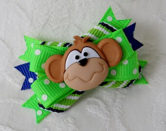 Dog Bow- Mr. Monkey Boutique Dog Bow