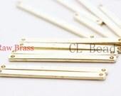 12pcs Raw Brass Link - Tag - Bar 36x2.5mm (1801C-U-62)