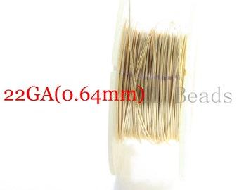 One Foot Gold Filled Round Wire-Half Hard-22 Gauge (0.64mm)