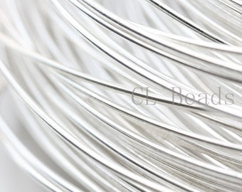 ONE Foot Half Hard Sterling Silver Round Wire-16 Gauge (1.29mm)