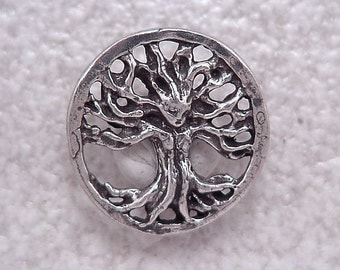Green Girl Studios Pewter Filigree Tree Pendant