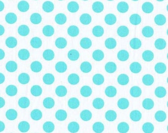 One (1) Yard - Ta Dot Aqua Blue Michael Miller CX1492-Aqua-D