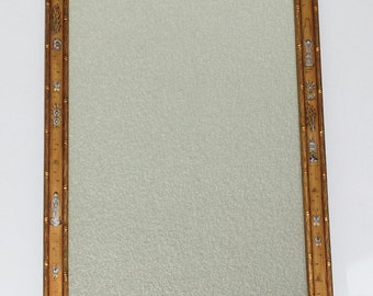 Vintage Friedman Brothers Chinoiserie Mirror, Gold Gilt Faux Bamboo Hand Painted, circa 1950s - 1960s