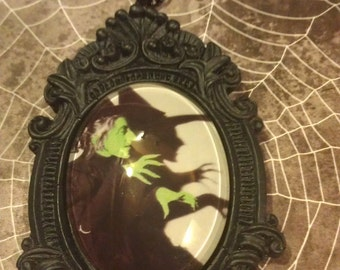Wicked Witch picture set on a Baroque frame Necklace (free shipping code)
