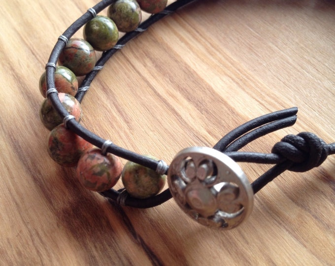 Rose garden beaded wrap bracelet