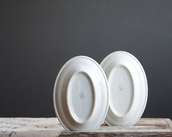 White Restaurant Platters | Trenle China | 8 inch Serving Plates | Industrial Kitchen Decor | White Kitchen | Oval Plates