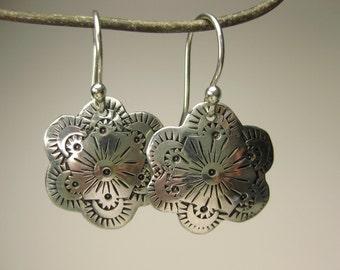 Sterling Stamped Earrings