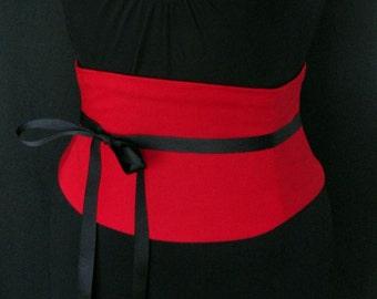 Red Corset Belt Waist Cincher Any Size