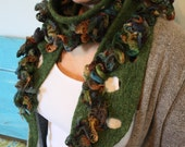 The Sirens Seaweed Scarf Felted