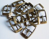 "Lot of 36 Buckles - 3/4"" Center Bar Buckles - Antiqued Brass Finish"