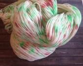 Party popper christmas sock yarn