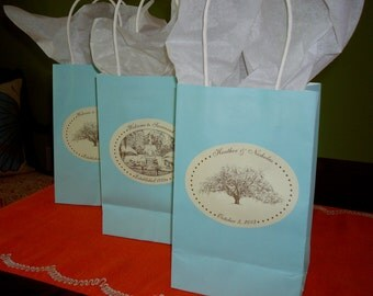 Savannah Wedding Stickers / Labels - Oak Tree or Forsyth Park Fountain