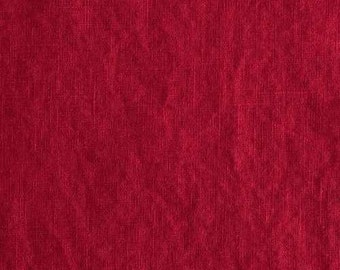 red • pure solid Linen Fabric 0.54yd (0,5m) 001853