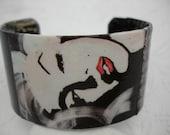 Marilyn Monroe Bracelet  Decoupage Cuff Bracelet