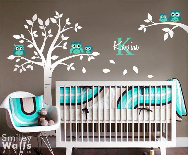 zoom. Owls Tree Wall Decal Owl Wall Decal Nursery Wall Sticker