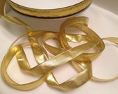 Gold Metallic Ribbon, Trim, Accessory, Gift Wrap, Embellishment, Costumes, Scrapbooking, Halloween, Christmas, Decoration, Bow Supply, Party