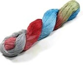 150 Yards Hand Dyed Cotton Crochet Thread Size 10 3 Ply  Thread Pale Red Blue Light Green Grey Hand Painted Fine Cotton Yarn