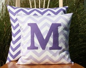 Lavender Monogrammed Pillow Cover - Kid/Nursery Sized - 14x14