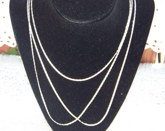 Three Individual Sterling Silver 2MM Flat Link 22' Chains