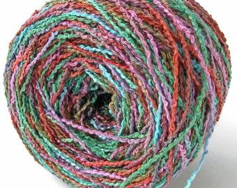 Hand Dyed Rayon Yarn Rayon Boucle Yarn - Briar Rose