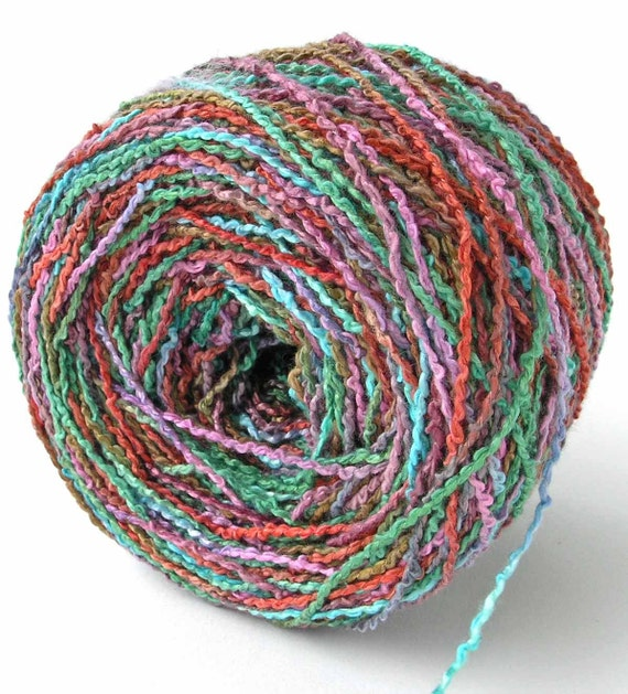 Boucle Yarn : Dyed Yarn Rayon Yarn Rayon Boucle Yarn Copper Green Rose Bumpy Yarn ...