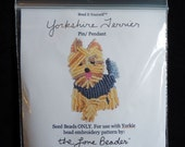 15/0 SEED BEADS ONLY for Beaded Yorkie Yorkshire Terrier Dog Pendant Animal Pin Beading Pattern / Free Usa Shipping