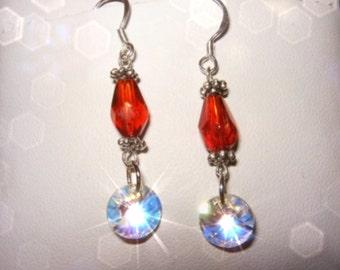 FANCY SMANCHY Swarovski Crystal Rivoli Earrings