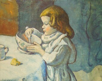 The Gourmet by Pablo Picasso - a Frameable, Vintage 1954 Frameable Art Print